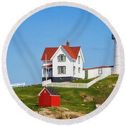 Nubble Light Round Beach Towel