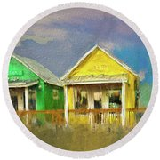 Round Beach Towel featuring the digital art 4 Of A Kind by Dale Stillman