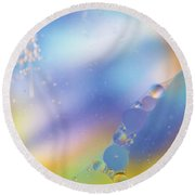 Oil In Water Round Beach Towel by Kevin Blackburn