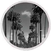 Palms Of Beverly Hills Round Beach Towel