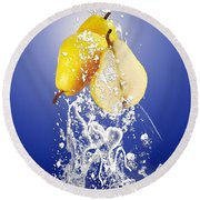 Pear Splash Collection Round Beach Towel