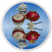 Round Beach Towel featuring the photograph Pink Dragon Fruit  by David French