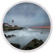 Portland Headlight Round Beach Towel