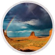 Rainbow Round Beach Towel