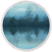 Reflections Round Beach Towel by Cathy Anderson