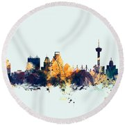 San Antonio Texas Skyline Round Beach Towel