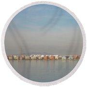 Shoreline Reflections Round Beach Towel