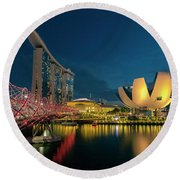 Singapore Round Beach Towel