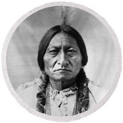 Sitting Bull 1834-1890. To License For Professional Use Visit Granger.com Round Beach Towel