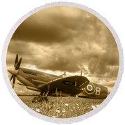 Spitfire Mk Ixb Round Beach Towel