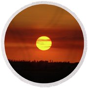 Round Beach Towel featuring the photograph 4- Sunset by Joseph Keane