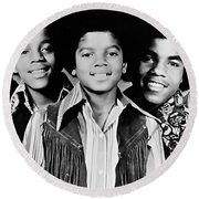 The Jackson 5 Collection Round Beach Towel