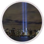 The Tribute In Light Memorial Round Beach Towel
