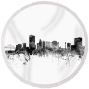 Toledo Ohio Skyline Round Beach Towel