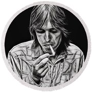 Tom Petty Collection Round Beach Towel