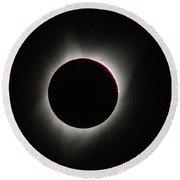 Total Solar Eclipse Round Beach Towel