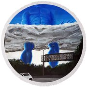405 N. At Roscoe Round Beach Towel