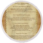 41- The Four Agreements Round Beach Towel