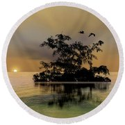 Round Beach Towel featuring the photograph 4374 by Peter Holme III