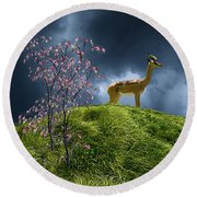 Round Beach Towel featuring the photograph 4388 by Peter Holme III