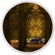 Round Beach Towel featuring the photograph 4390 by Peter Holme III