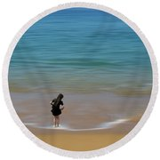 Round Beach Towel featuring the photograph 4391 by Peter Holme III