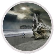 Round Beach Towel featuring the photograph 4392 by Peter Holme III