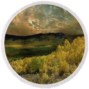 Round Beach Towel featuring the photograph 4394 by Peter Holme III