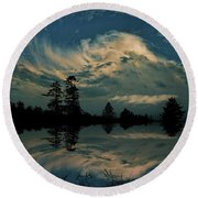 Round Beach Towel featuring the photograph 4395 by Peter Holme III