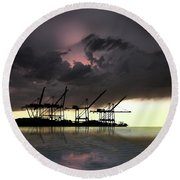 Round Beach Towel featuring the photograph 4396 by Peter Holme III