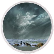 Round Beach Towel featuring the photograph 4399 by Peter Holme III