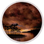 Round Beach Towel featuring the photograph 4401 by Peter Holme III