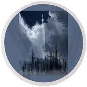 Round Beach Towel featuring the photograph 4404 by Peter Holme III
