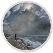 4405 Round Beach Towel by Peter Holme III