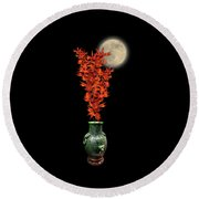 Round Beach Towel featuring the photograph 4406 by Peter Holme III