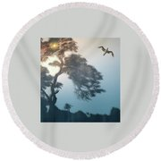 Round Beach Towel featuring the photograph 4408 by Peter Holme III