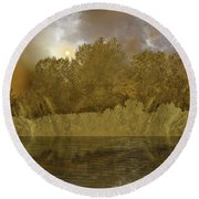 Round Beach Towel featuring the photograph 4411 by Peter Holme III
