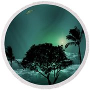 Round Beach Towel featuring the photograph 4420 by Peter Holme III