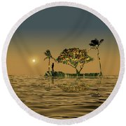 Round Beach Towel featuring the photograph 4423 by Peter Holme III