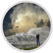 4457 Round Beach Towel by Peter Holme III