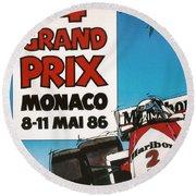 44th Monaco Grand Prix 1986 Round Beach Towel