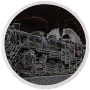 Round Beach Towel featuring the photograph 4501 Glow by Geraldine DeBoer