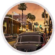 Round Beach Towel featuring the photograph 48 Cadi by Steven Sparks