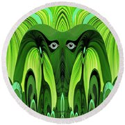 482   Green Ghost Of The Woods V Round Beach Towel