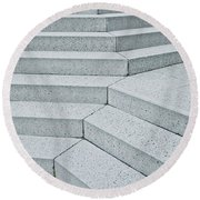 Stone Steps Round Beach Towel