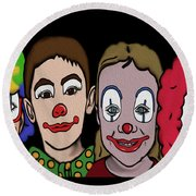 4happy Clowns Round Beach Towel