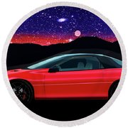 4th Generation Z28 Camaro Round Beach Towel