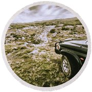 4wd On Offroad Track Round Beach Towel