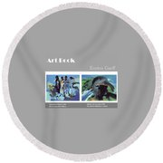 Art Book Round Beach Towel