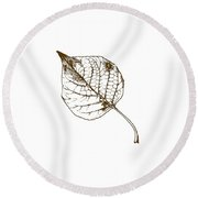 Autumn Day Round Beach Towel by Chastity Hoff